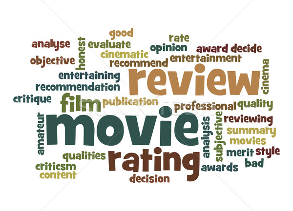Movie review word cloud Stock photo © tang90246