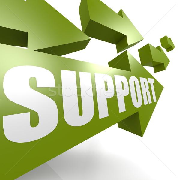Unterstützung arrow grünen Arbeit Design läuft Stock foto © tang90246