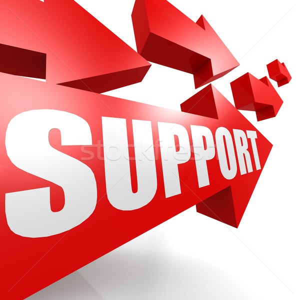 Support arrow in red Stock photo © tang90246