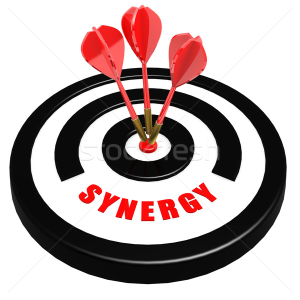 Synergy dart board Stock photo © tang90246