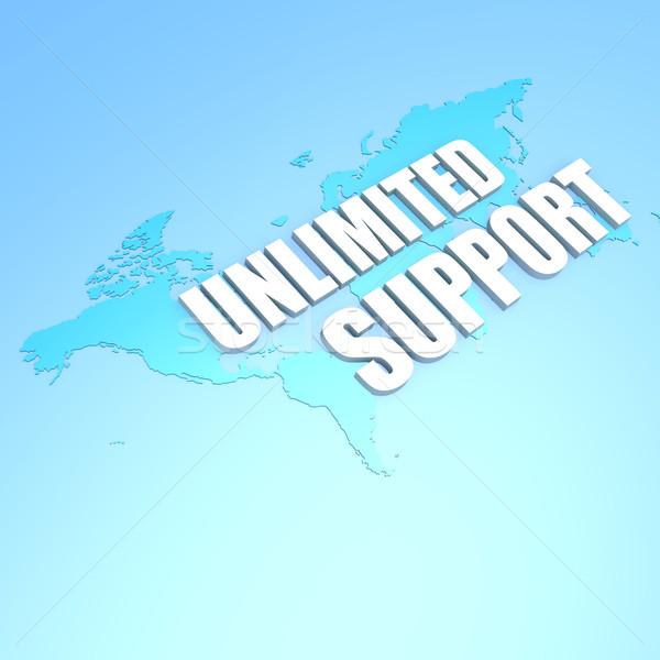 Nieograniczony wsparcia mapie świata świecie Pokaż świat Zdjęcia stock © tang90246