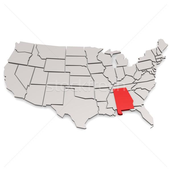 Алабама карта изображение оказанный используемый Сток-фото © tang90246