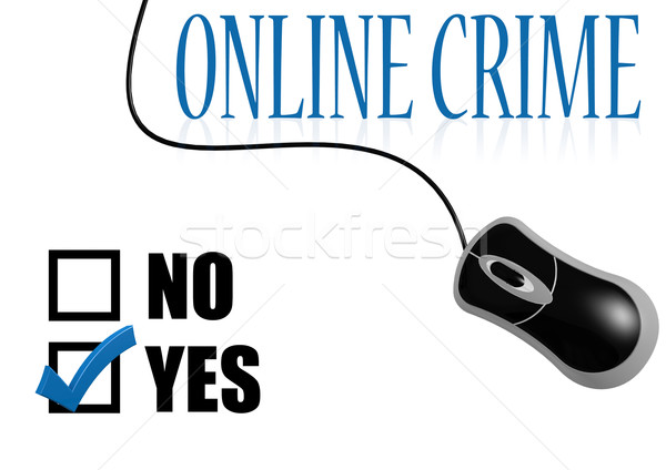 On-line crime verificar imagem prestados Foto stock © tang90246