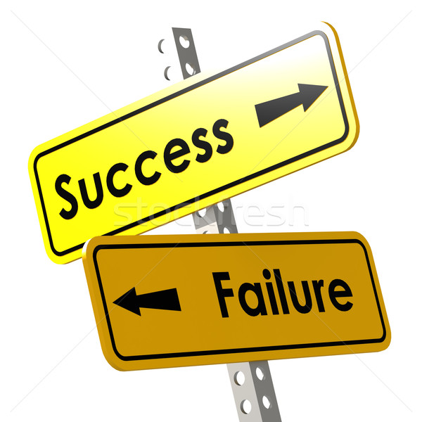 Success and failure with yellow road sign Stock photo © tang90246