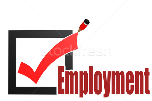 Comprobar empleo palabra imagen prestados Foto stock © tang90246