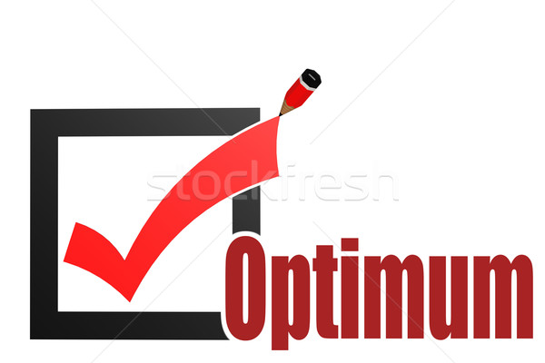 Check mark with optimum word Stock photo © tang90246