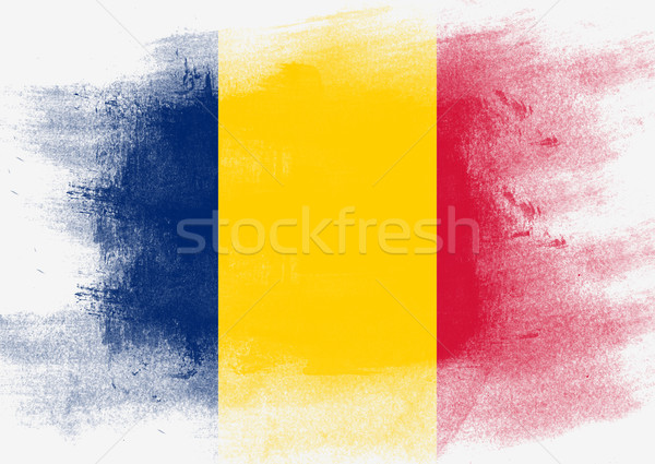 Flag of Chad painted with brush Stock photo © tang90246