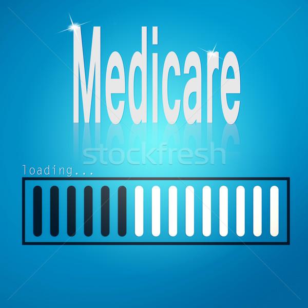 Medicare blue loading bar Stock photo © tang90246