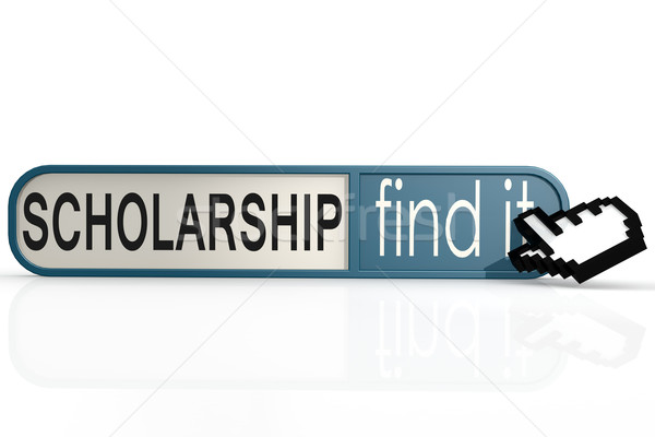 Borsa di studio parola blu trovare banner immagine Foto d'archivio © tang90246