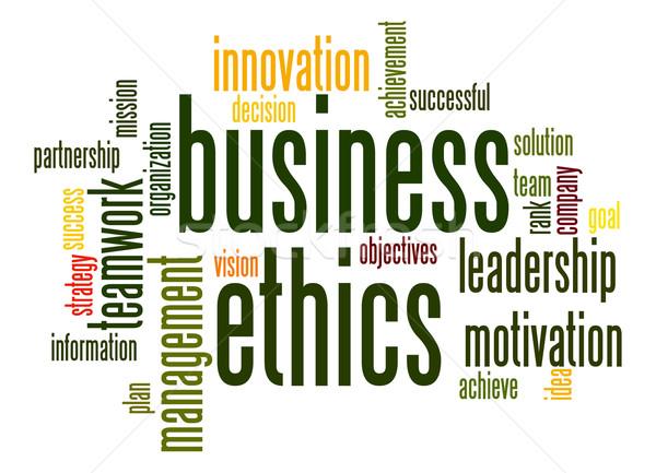 Business etica word cloud squadra successo società Foto d'archivio © tang90246