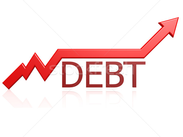 Debt graph Stock photo © tang90246