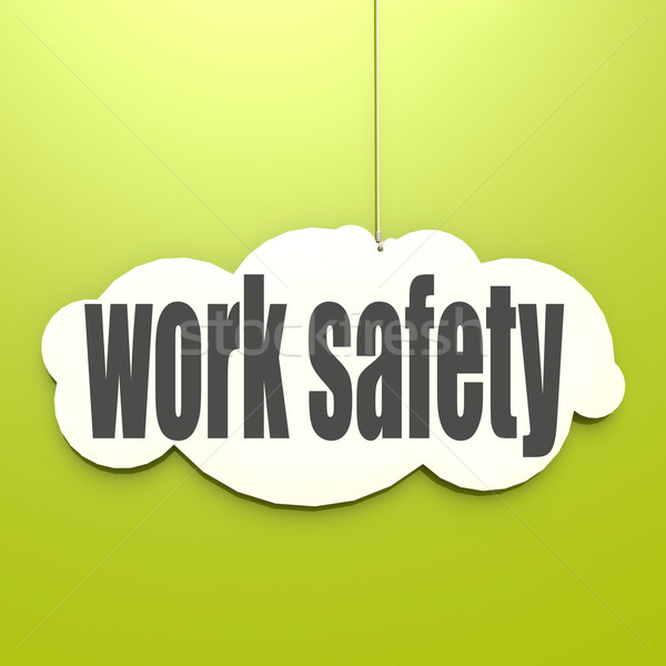 White cloud with work safety Stock photo © tang90246