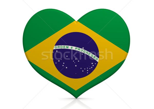 Brezilya kalp arka plan seyahat ülke kavram Stok fotoğraf © tang90246
