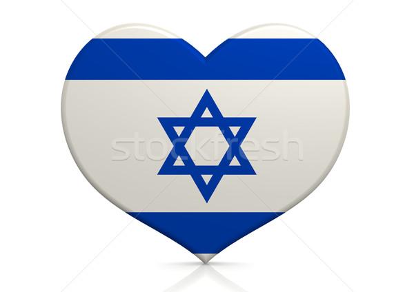 Israel coração fundo viajar país conceito Foto stock © tang90246