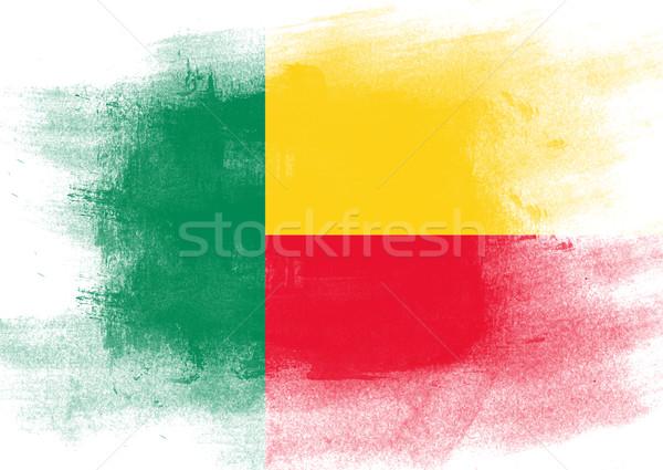Bandiera Benin verniciato pennello solido abstract Foto d'archivio © tang90246