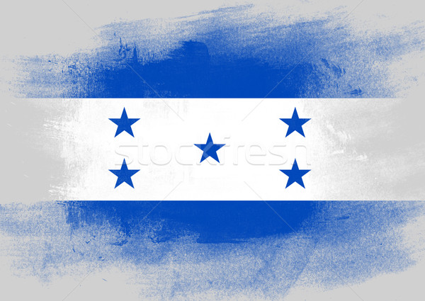 Bandeira Honduras pintado escove sólido abstrato Foto stock © tang90246