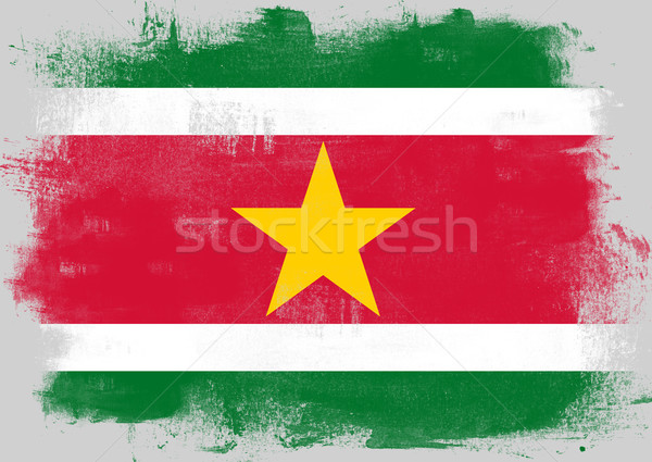 флаг Суринам окрашенный щетка твердый аннотация Сток-фото © tang90246