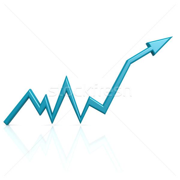 Blue graph up Stock photo © tang90246