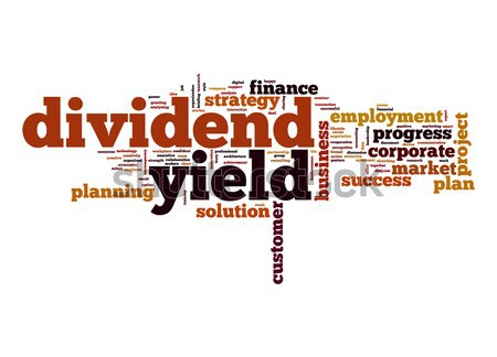 Dividend yield word cloud Stock photo © tang90246