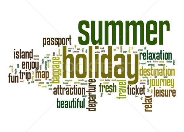 Summer holiday word cloud Stock photo © tang90246