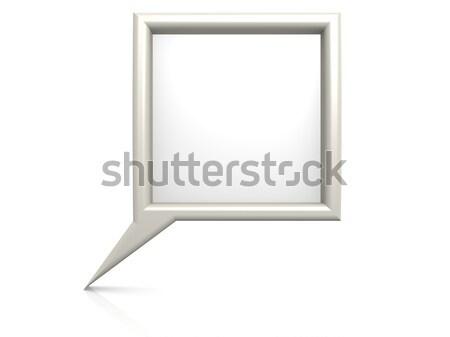 Beyaz diyalog kabarcık alan uzay eğlence Stok fotoğraf © tang90246