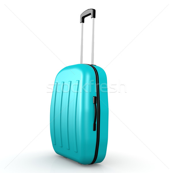 Blue luggage with white background Stock photo © tang90246