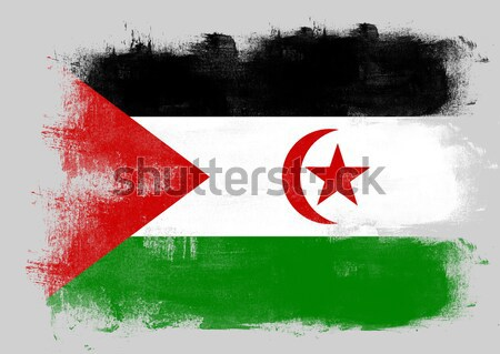 Bandeira Jordânia pintado escove sólido abstrato Foto stock © tang90246