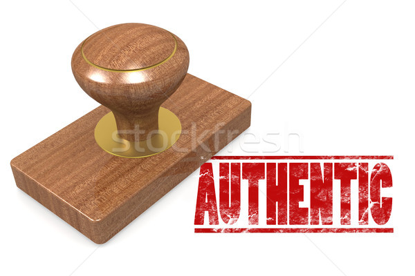 Authentic quallity wooded seal stamp Stock photo © tang90246