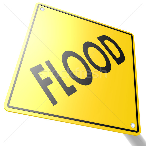 Road sign with flood Stock photo © tang90246