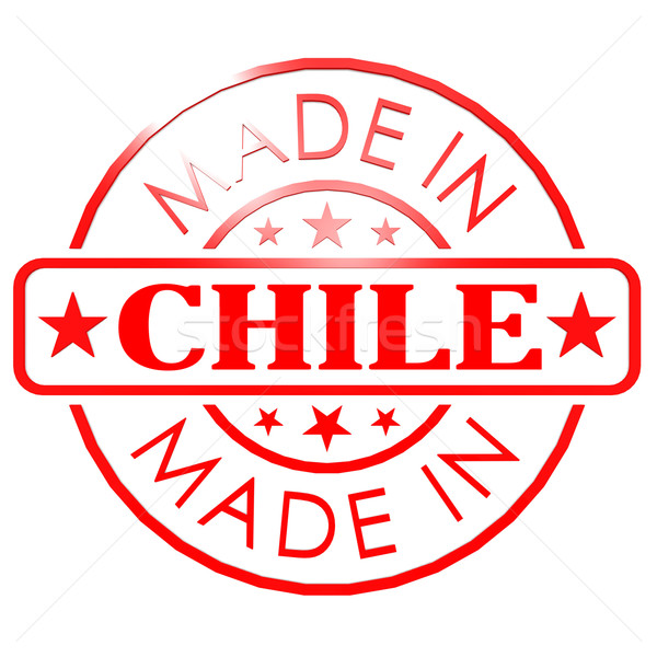 Made in Chile red seal Stock photo © tang90246