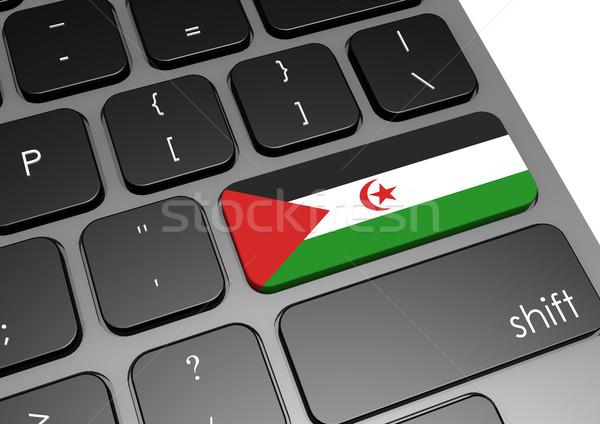 западной Сахара клавиатура изображение оказанный Сток-фото © tang90246