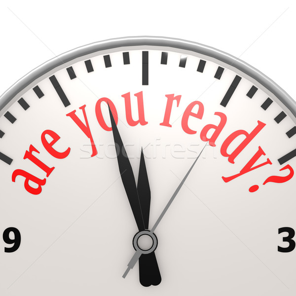 Pronto relógio sucesso apresentar meta estratégia Foto stock © tang90246