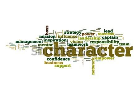 Character word cloud Stock photo © tang90246