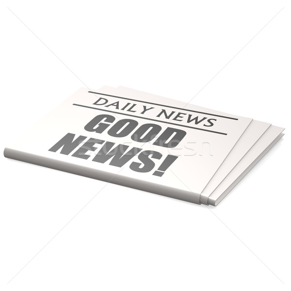 Newspaper good new Stock photo © tang90246