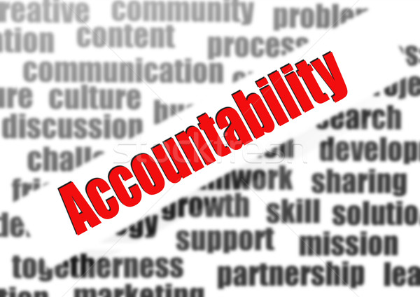 Accountability word cloud Stock photo © tang90246