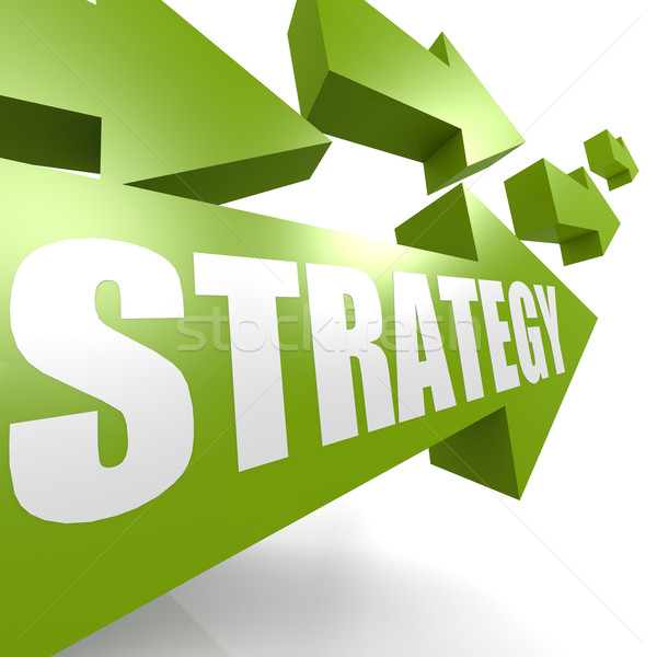 Strategy arrow in green Stock photo © tang90246