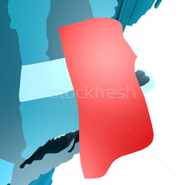 Rhode Island harita mavi ABD görüntü render Stok fotoğraf © tang90246