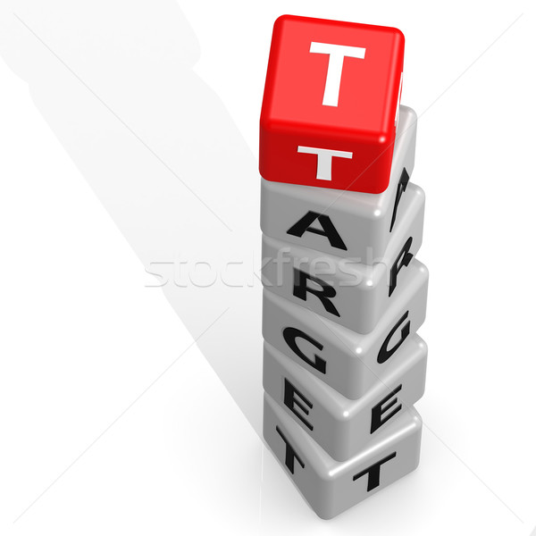 Target buzzword red Stock photo © tang90246