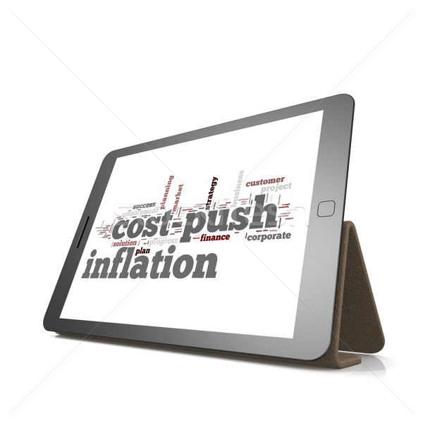 Cost push inflation word cloud on tablet Stock photo © tang90246
