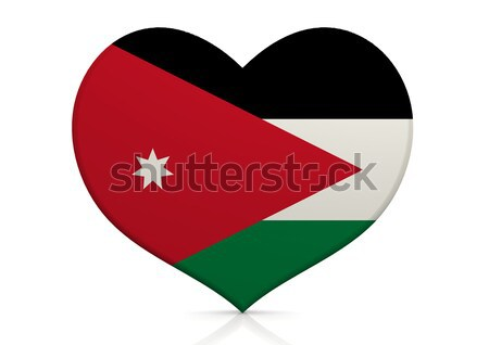 Jordania serca tle podróży kraju pojęcia Zdjęcia stock © tang90246