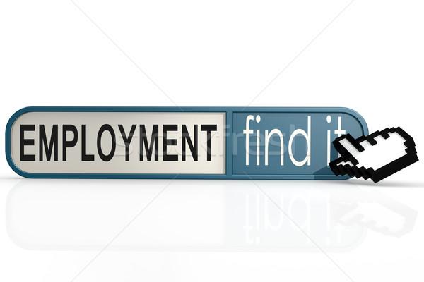 Сток-фото: занятость · слово · синий · находить · баннер · изображение