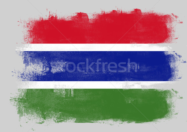 Flag of Gambia painted with brush Stock photo © tang90246