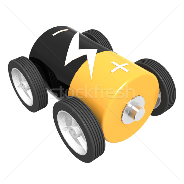 Isolated battery car Stock photo © tang90246