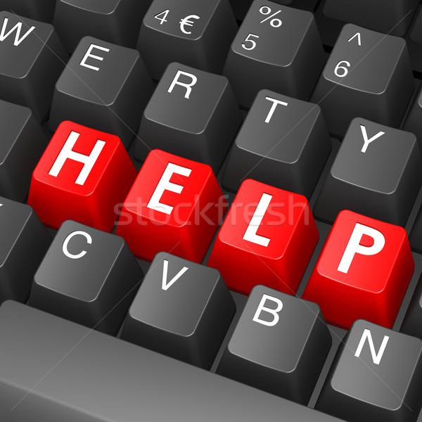 Black keyboard with help word Stock photo © tang90246