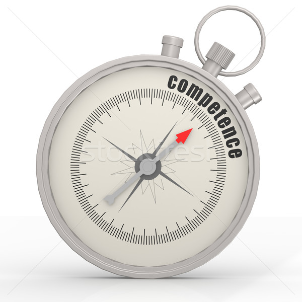 Competence word in the compass Stock photo © tang90246