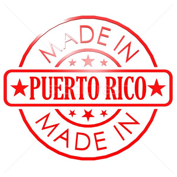 Puerto Rico Rood zegel afbeelding gerenderd Stockfoto © tang90246
