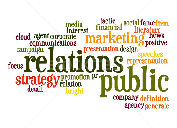 Public Relations word cloud Stock photo © tang90246