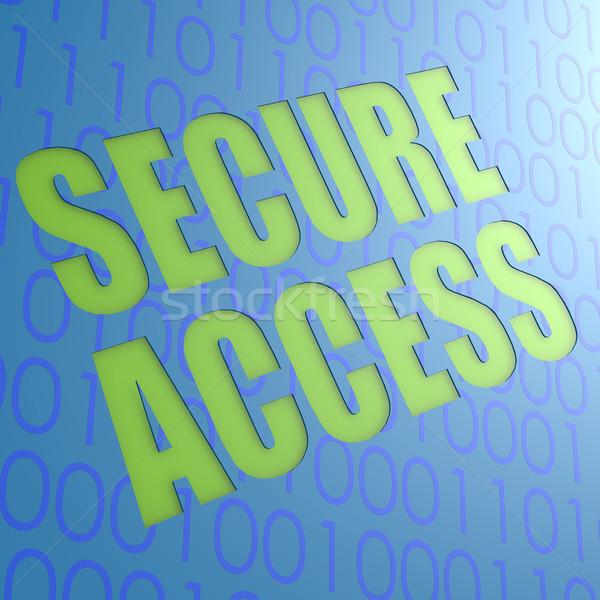 Biztonságos hozzáférés számítógép kéz absztrakt technológia Stock fotó © tang90246