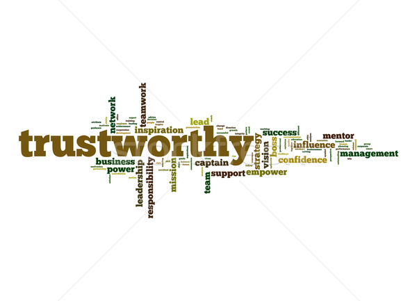 Trustworthy word cloud Stock photo © tang90246