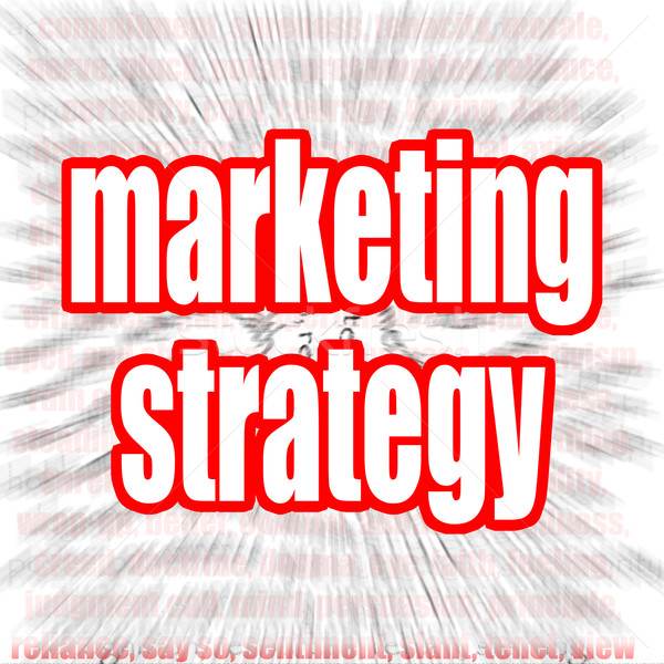 Stock photo: Marketing strategy word cloud